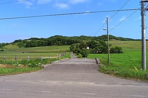 駅周辺の牧場風景