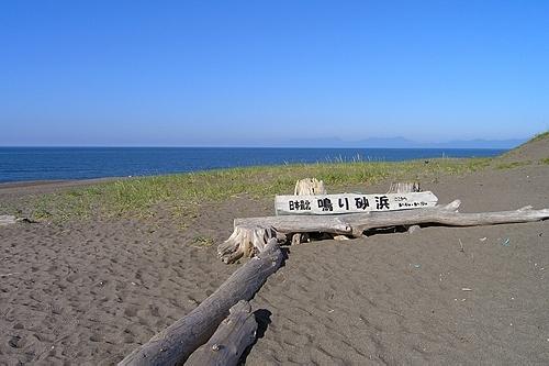 日本最北の鳴り砂浜