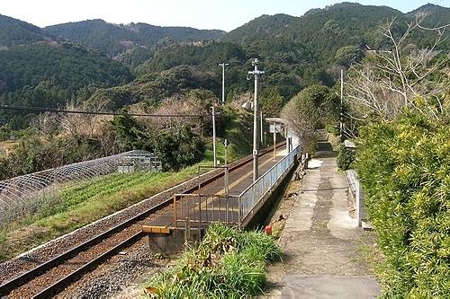 波田須駅構内