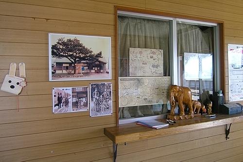 駅舎内窓口跡