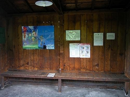 旧白滝駅・待合室内
