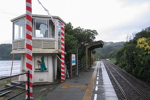 田井ノ浜駅ホーム