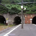 田浦駅・三種類のトンネル