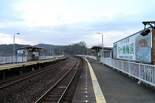 月ヶ瀬口駅ホーム