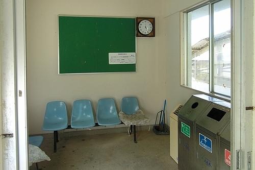 駅舎内待合室