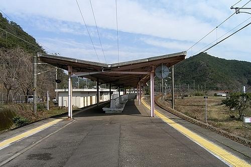 湯川駅ホーム