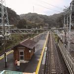 跨線橋から見た鵜原駅