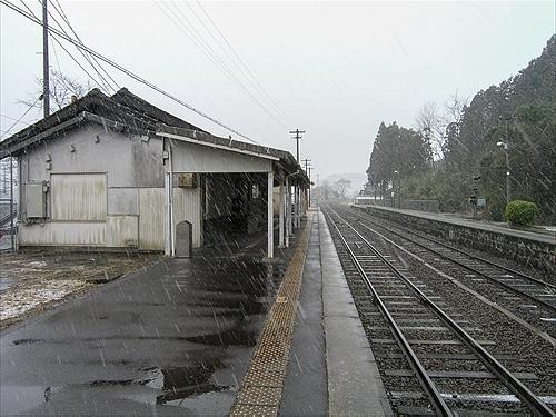 ホーム柘植駅方面