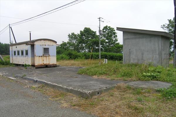 旧駅舎基礎跡