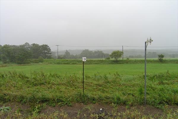 南弟子屈駅ホーム向かい側の風景